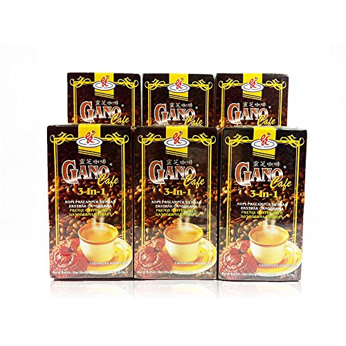 6 boxes ( 80 sachets ) 3 in 1 Healthy Instant Coffee Ganoderma - Genuine Gano Cafe Excel + FREE Zrii Rise Coffee by JKShop2u by Gano Excel