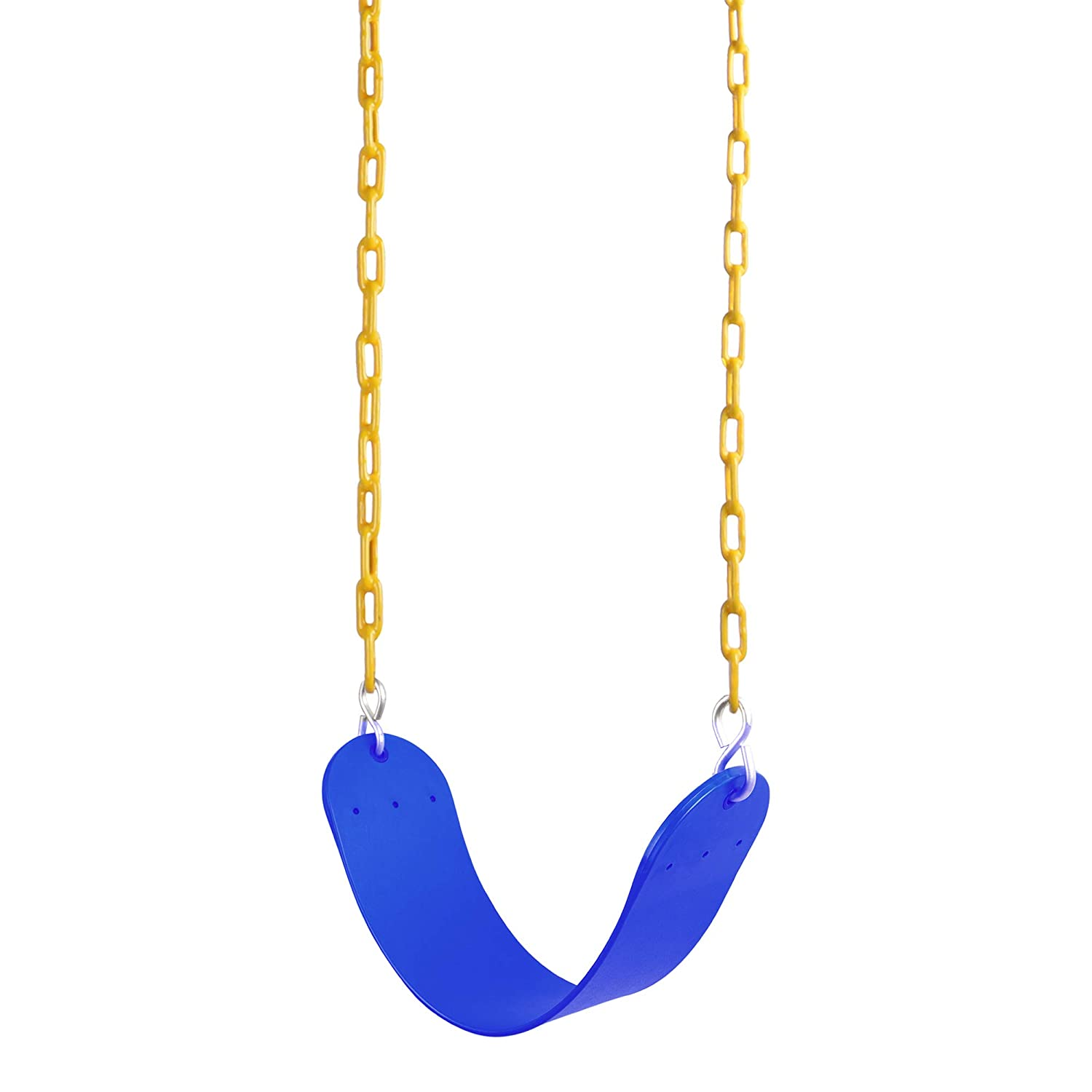 (blue) - Reehut Swing Seat Heavy Duty with 170cm Chain Plastic Coated, Swing Set Accessories Swing Seat Replacement, 140kg Weight Limit B074TDTYJ1