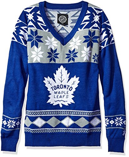 869de894c00 Forever Collectibles NHL Toronto Maple Leafs Women s Big Logo Pick Team  V-Neck Sweater