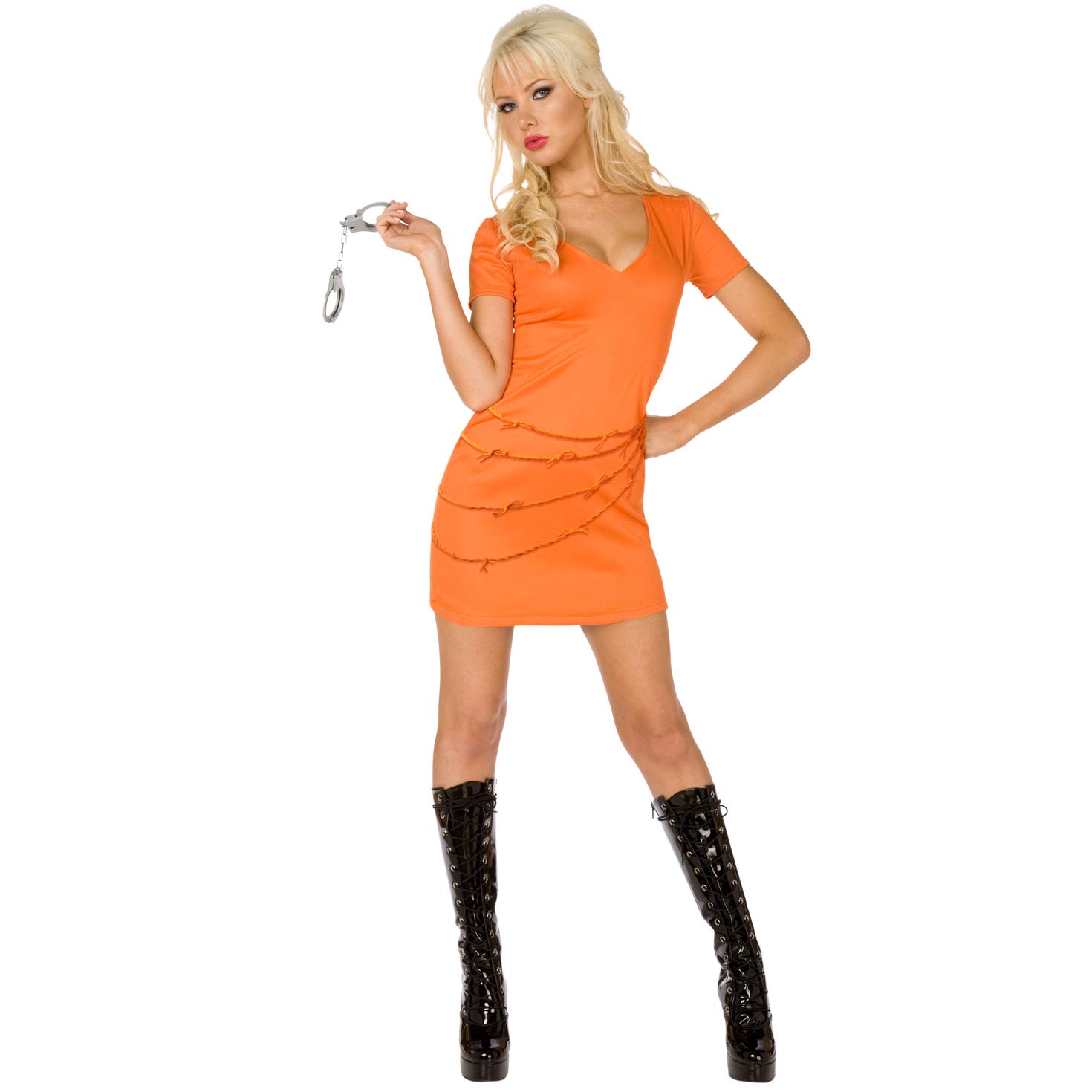 Amazon.com: Womens prisionero traje de color naranja tamaño ...