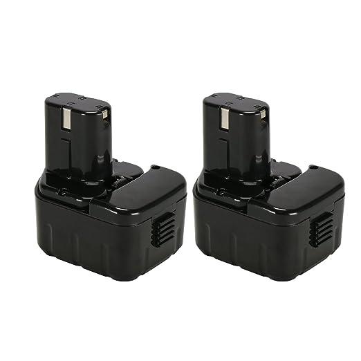 POWERAXIS 2PCS 12V 3000mAh Ni-MH Taladro Batería de Repuesto para ...