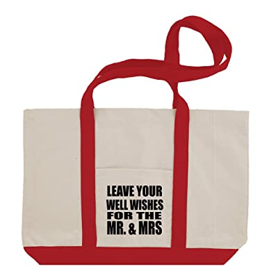 Leave Well Wishes For The Mr And Mrs Cotton Canvas Boat Tote Bag Tote
