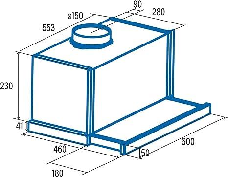 Cata   Campana de extracción telescópica   Modelo: TF 6600 DURALUM   2 niveles de extracción   Panel de Control Mecánico   Acabado en inox   Clase de eficiencia energética: C: 136.27: Amazon.es: Grandes electrodomésticos