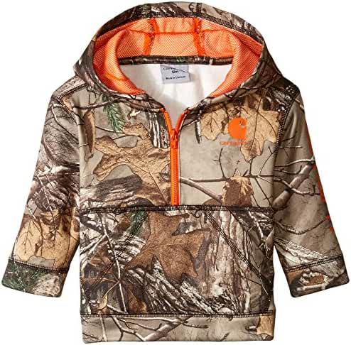 Carhartt Boys' Camo 1/2 Zip Sweatshirt