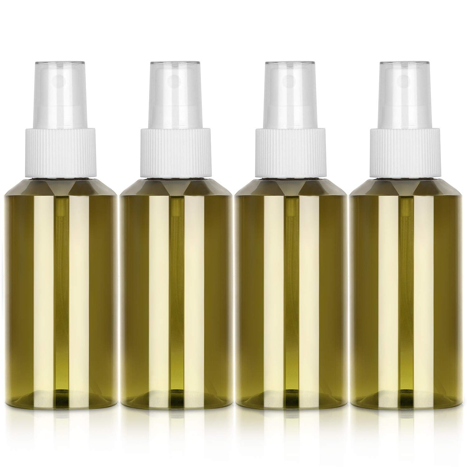 3.4 oz Travel Size Empty Spray Bottles for Essential Oils and Cleaning Solutions, Leak Proof Fine Mist Spray Bottle for Homemade Cleaner and Skin Care Products, 4 Pack