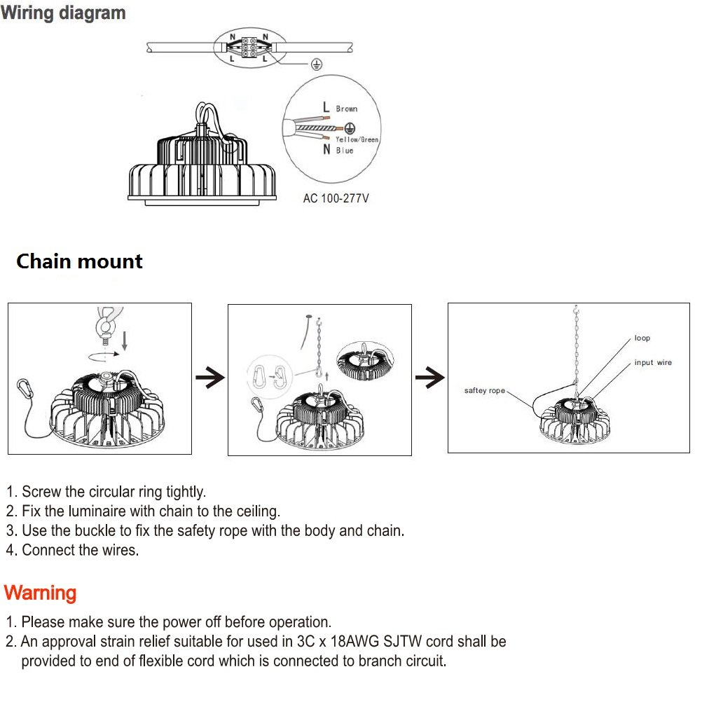 Grandlumen 150w Ufo Led High Bay Light Etl Certified Replacement Wiring Diagram For 600w Hid Hps