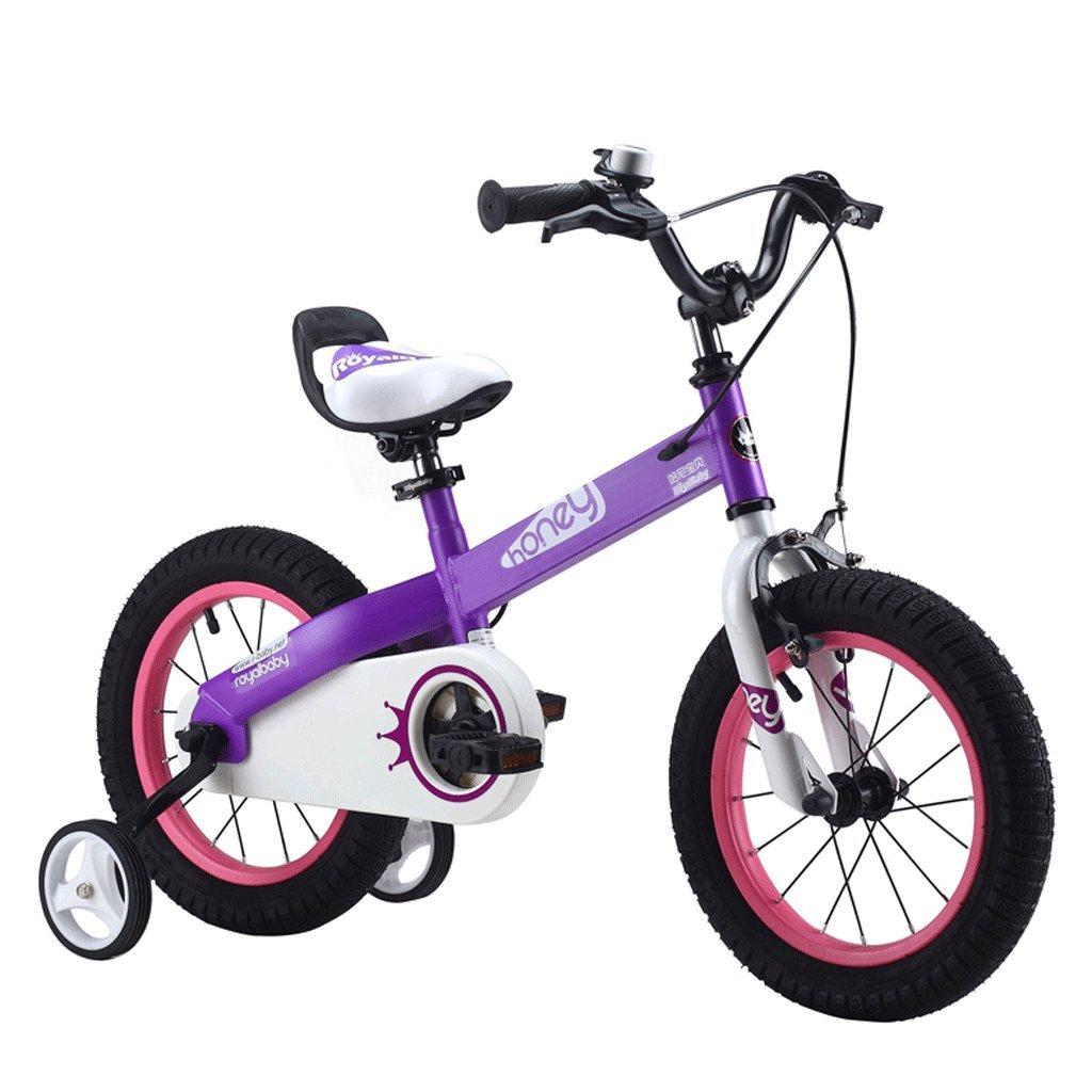 子供用自転車12/14/16インチ2-10歳の少年赤ちゃんの少年自転車学生自転車 (色 : パープル ぱ゜ぷる, サイズ さいず : 16 inches) B07D4FK153 16 inches パープル ぱ゜ぷる パープル ぱ゜ぷる 16 inches