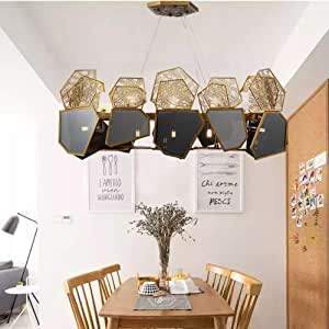 ETH Neo-Classical Designer Lamps Post-Modern Personality Creative Living Room Restaurant Cafe Black Crystal Chandelier 600 * 530mm Precision