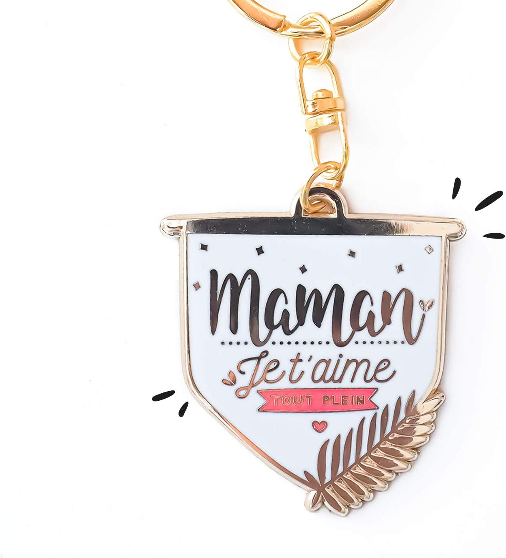 Cadeau pour Maman f/ête des m/ères Porte-cl/és Maman Je taime Tout Plein