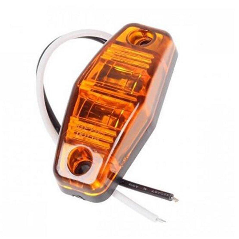 PolarLander 8X LED Luz de posici/ón Lateral de la luz de g/álibo 12V 24V E-Marcado Coche Cami/ón Remolque Autob/ús Luz Trasera Luces externas Luces de estacionamiento ATV Rojo