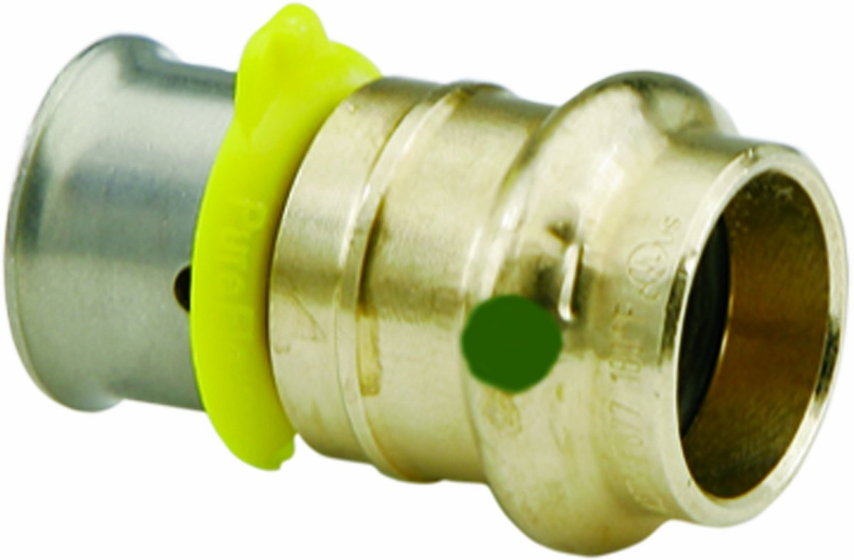 Viega 69630 PureFlow Bronze PEX Press ProPress Adapter with 3//4-Inch by 1//2-Inch Press x P