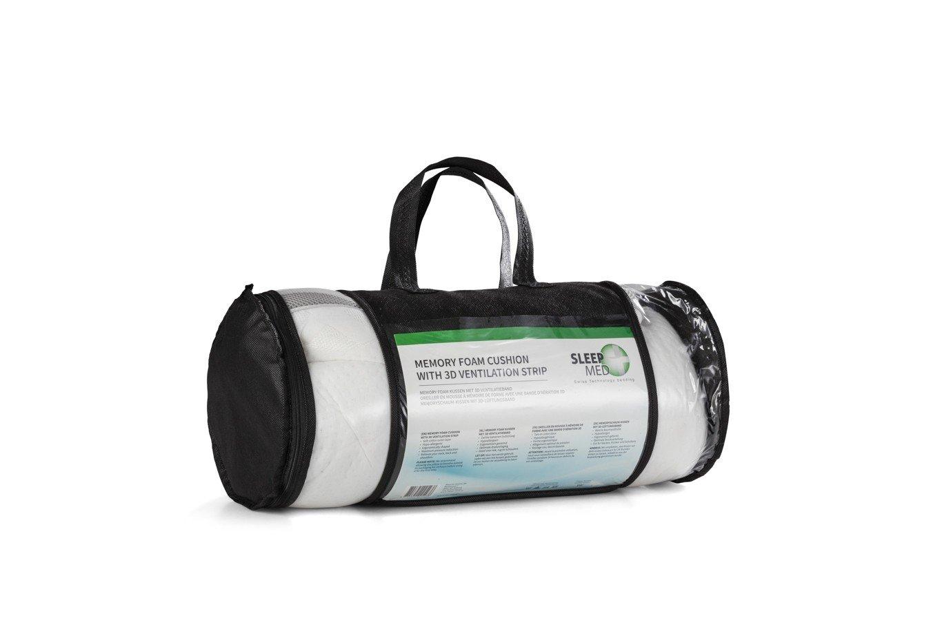 Sleep Med Kussen : Sleepmed pillow with d ventilation strip memory foam white