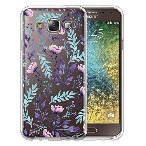 Silicone Soft Case for Samsung Galaxy E5 (Clear) - 1