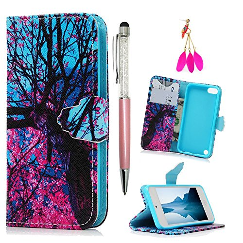 iPod Case iPod Touch 5 Case -MOLLYCOOCLE[Color Tree]Stand Wallet Purse Credit Card ID Holders TPU Soft Bumper Premium PU Leather Ultra Slim Fit Cover for iPod Touch 5 5th Generation (Ipod Touch 5 Colors compare prices)