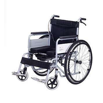 ANLEI Silla de Ruedas Trolley Silla de baño Coche Plegable Multifuncional Fácil de Llevar Usado para Personas Mayores Personas discapacitadas 100 * 68 ...