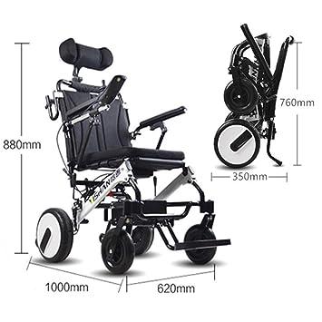 Amazon.com: Szeao - Silla de ruedas eléctrica plegable y ...