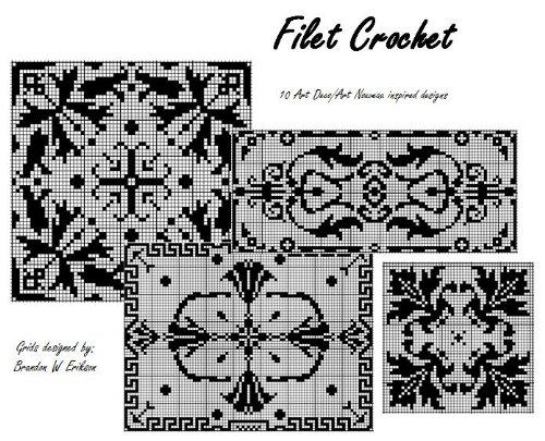 Filet Crochet: 10 Deco/Nouveau Designs