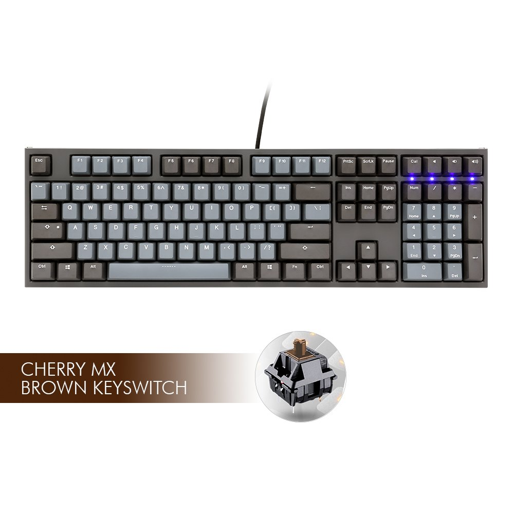 Ducky ONE2 Skyline, CMX Brown Switch (PC/Mac/Linux) Tomauri(HM03W) -- Dropship DKON1808-BUSP