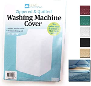 Heavyweight Zippered & Quilted Washing Machine Cover White