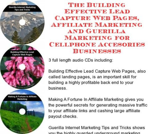 The Guerilla Marketing, Building Effective Lead Capture Web Pages, Affiliate Marketing for Cellphone Accesories Businesses