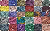30 X 10 yards Choose you own colors Sari Pure Silk Ribbon Yarn (30 colors)