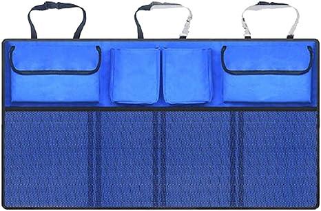 Kalaokei Kofferraum Organizer Für Rücksitz Universalgröße Mit Tasche Oben Blau Küche Haushalt