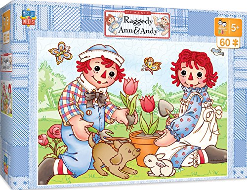 (MasterPieces The Right Fit Kids Raggedy Ann & Andy Jigsaw Puzzle, Picnic Friends, Tillywig Top Fun Award, 60 Piece, For Age 5+)