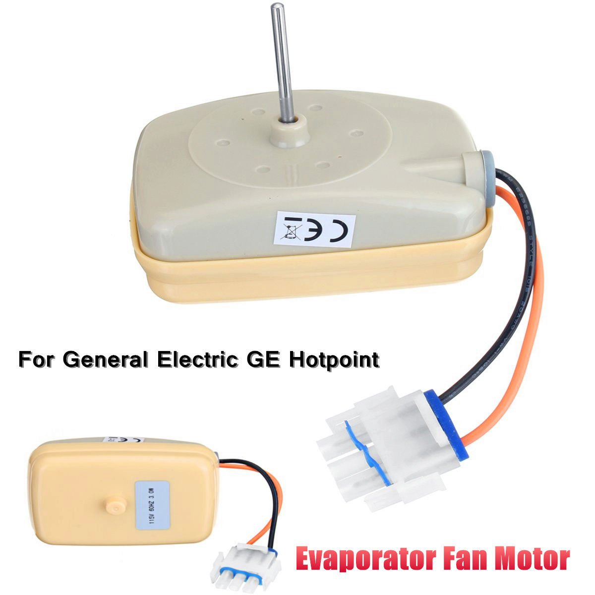 MAYITOP Evaporator Fan Motor WR60X10141 WR60X10346 WR60X10045 WR60X10046 WR60X10072 WR60X10138 For General Electric, Sears, Kenmore, Hotpoint, RCA WR60X23584