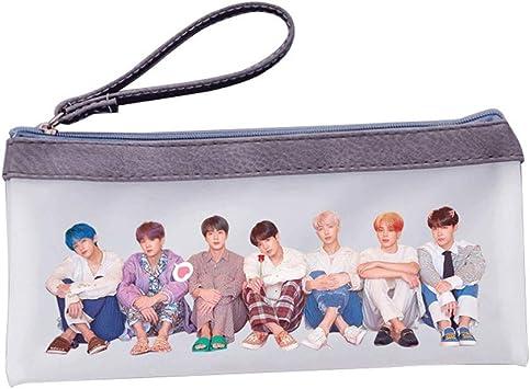 HughFan Kpop BTS Bangtan Boys Jelly - Estuche para lápices y cosméticos, 21 x 10,5 cm, 0, gris: Amazon.es: Deportes y aire libre
