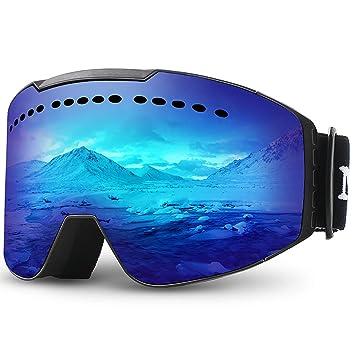 c7d0a7c5c5 Juli Ski Snowboard Googles UV Protection Anti-Fog Snow Goggles for Men  Women Youth