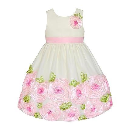 American Princess Festive Niños niña Petticoat vestido rosas Color Crema crema Talla:92