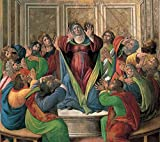 Cutler Miles The Descent Of The Holy Ghost by Sandro Botticelli Hand Painted Oil on Canvas Reproduction Wall Art. 30x24