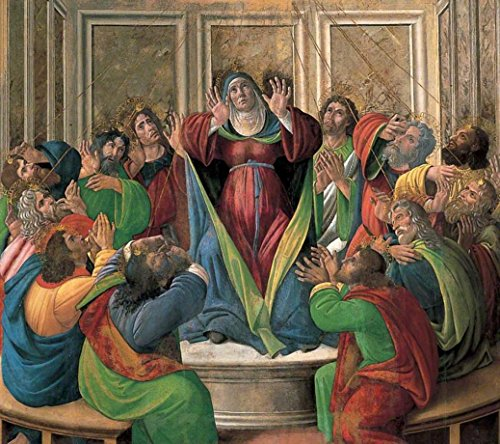 Cutler Miles The Descent Of The Holy Ghost by Sandro Botticelli Hand Painted Oil on Canvas Reproduction Wall Art. 30x24 by Cutler Miles