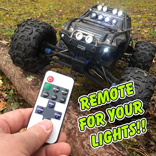 Remote Control for Traxxas Summit Lights - NO modification required, simple plug and play! For 1/10 scale Summit, controls part # 5684 light bar also! (Rc Summit Truck)