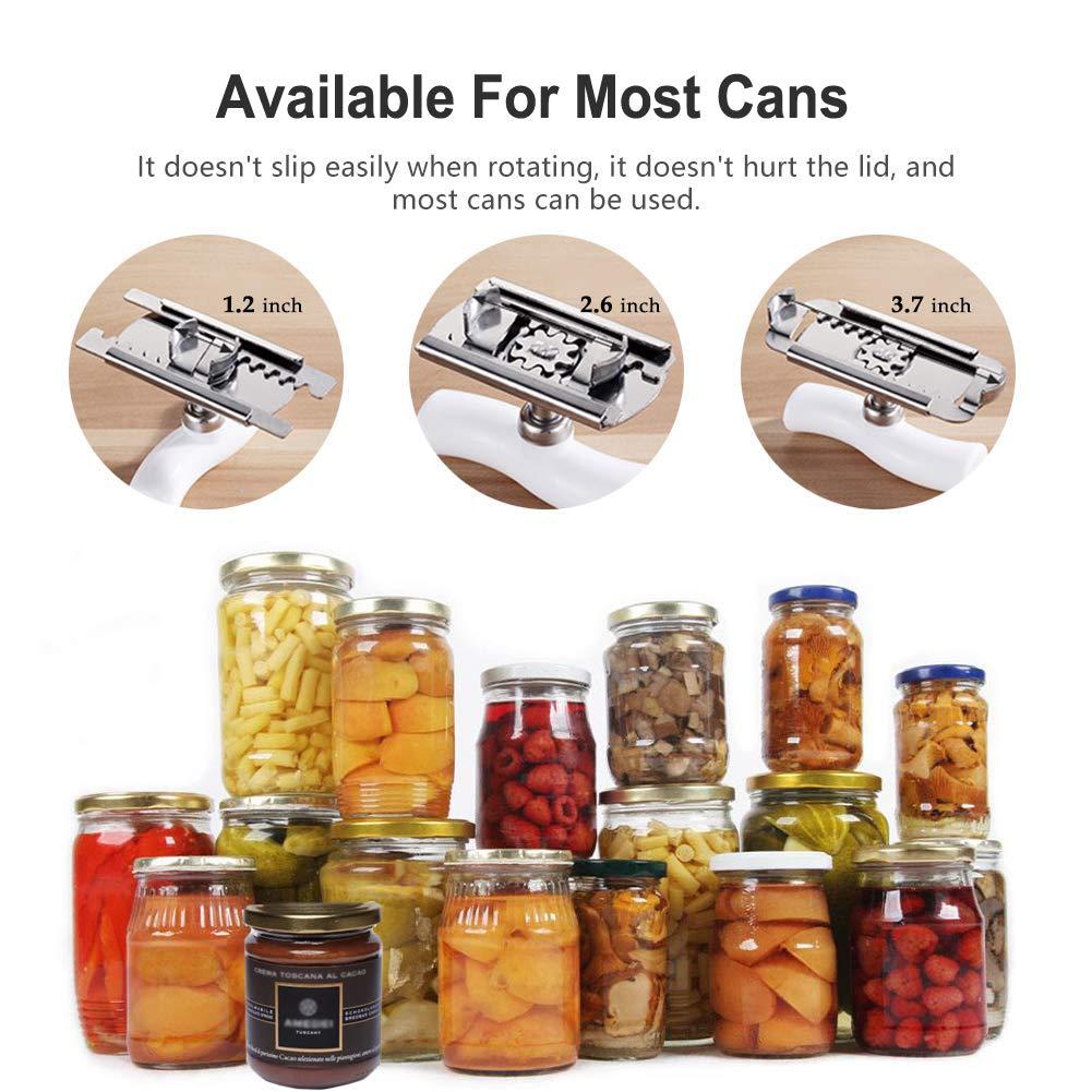 Jar Opener Can Opener Stainless Steel,Adjustable for Various Lids Bottle Cap Remover Tool Fit Seniors Arthritis Aid,Weak Hands,S-shape Handle