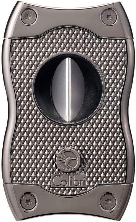 Colibri Black /& Gunmetal S-Cut 66 Ring Gauge Close Back Ez Cut Cigar Cutter