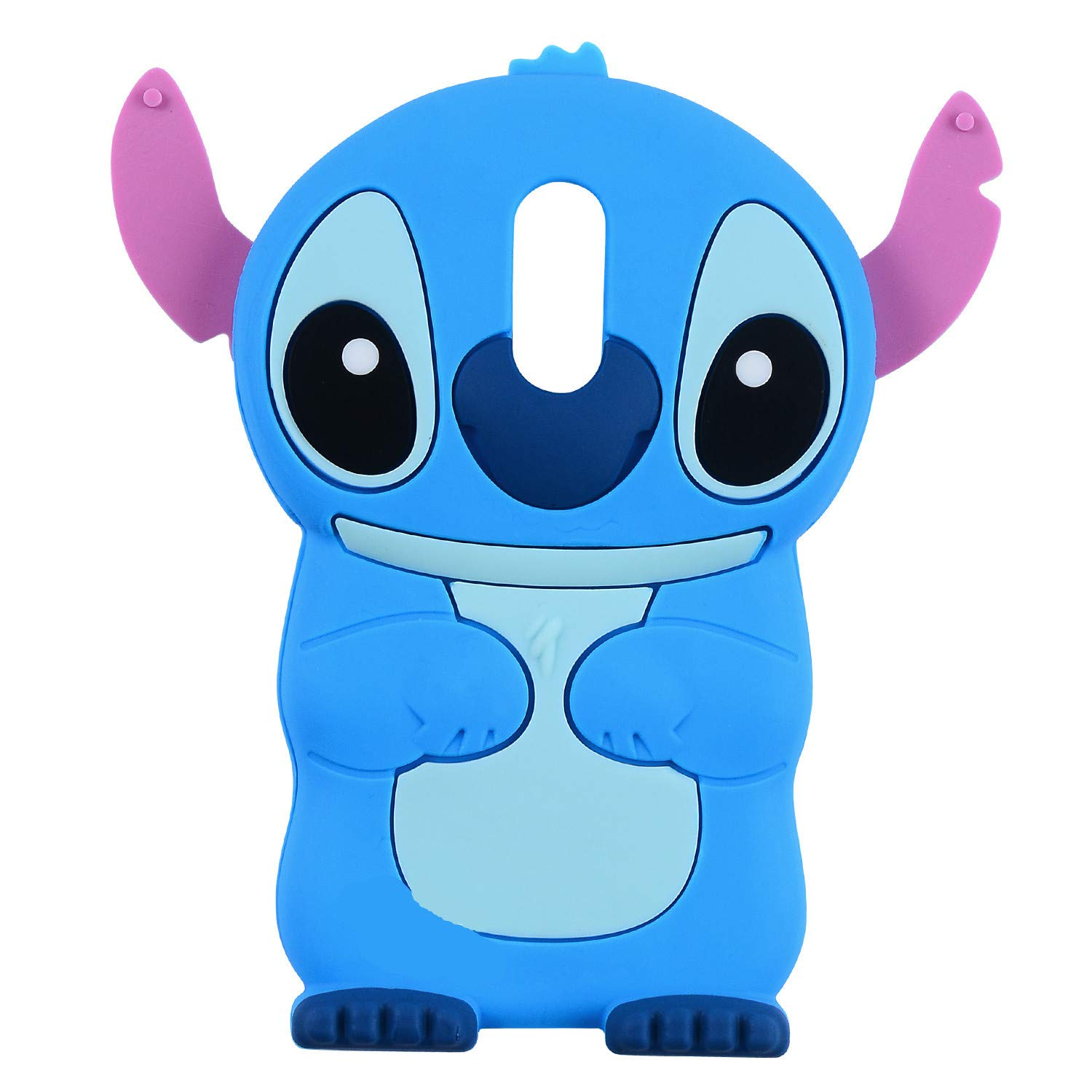 Blue Stitch Case for LG Stylo 4,Q Stylus, Stylo 4 Plus,Stylus 4,3D Cartoon Animal Character Unique Design Cute Soft Silicone Kawaii Skin Cover, Funny Cool Cases for Kids Boys Teens Girls (LG Stylo 4)