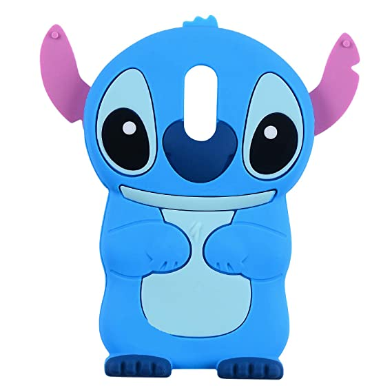 arrives 5af06 4a91d Blue Stitch Case for LG Stylo 4,Q Stylus, Stylo 4 Plus,Stylus 4,3D Cartoon  Animal Character Unique Design Cute Soft Silicone Kawaii Skin Cover, Funny  ...
