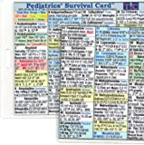 img - for Pediatric Survival Card (Large 3.5x5.5 inches - index card or pocket size) Laminated with hole punched book / textbook / text book