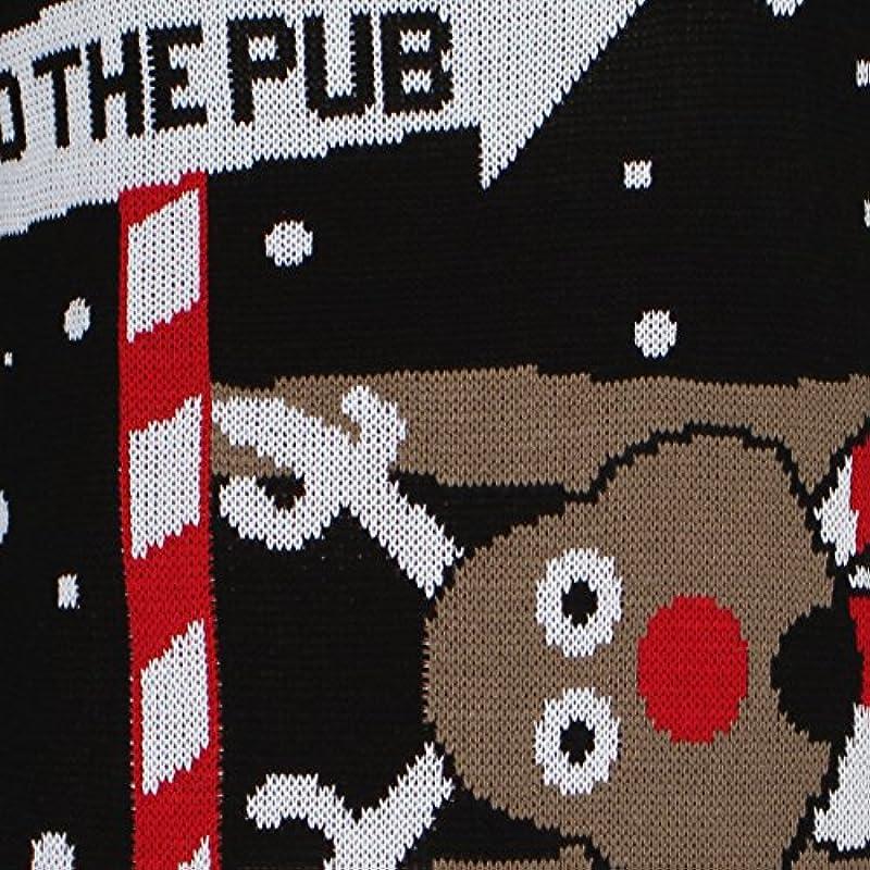 Wyprodukowany przez Purl NOWOŚĆ Mężczyźni Kobiety Boże Narodzenie Sweter Rudolph Pom Renifer Mikołaj Elfen Pinguin Retro Vintage Sweter TOP RETRO NOWOŚĆ S–3XL: Odzież