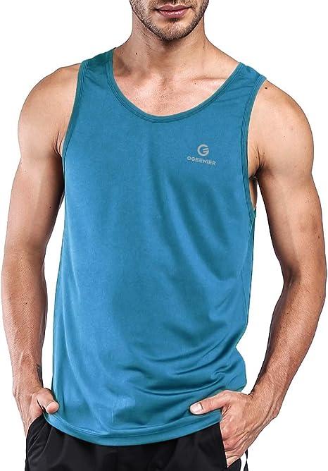 Ogeenier Herren Sommer Sport Tank Top Muskelshirt Trainingsshirt f/ür Training Gym Fitness /& Bodybuilding