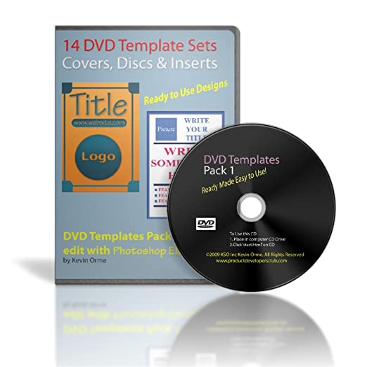 Amazon.com: 14 DVD Template Sets Pack 1 for Photoshop Elements ...