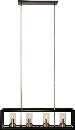 Globe Electric Sansa 5 Light Dark Bronze Chandelier Adjustable Hanging Length