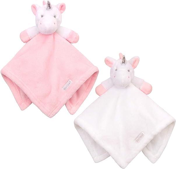 Boys /& Girls Animal Snuggle Comfort Blanket Baby Comforter Blanket Blue Elephant Plushie