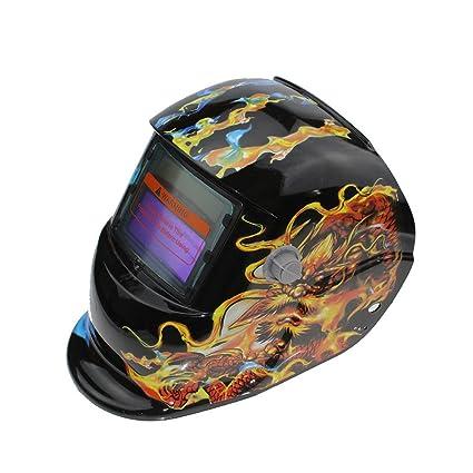 SSXY Casco de soldadura solar Máscara de atenuación automática Máscara de soldadura fotoeléctrica Equipo de protección