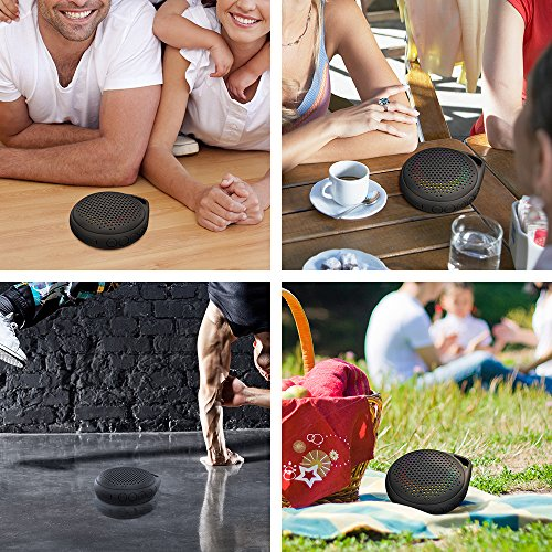 Shower Speaker IP67 Bluetooth Speaker, Portable Enhanced Bass Built-in Mic, Bluetooth with Compact Home