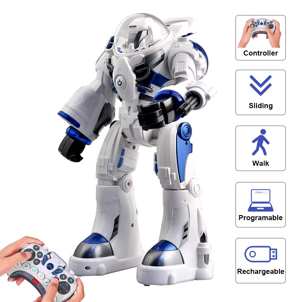 KINGBOT Robot Toy,Spaceman RC Robot Remote Control Robots Toys with Programmable Interactive Walking Singing Dancing for Kids Boys Girls Gifts by KINGBOT (Image #1)