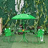 Outsunny Kids Folding Picnic Table and Chair Set