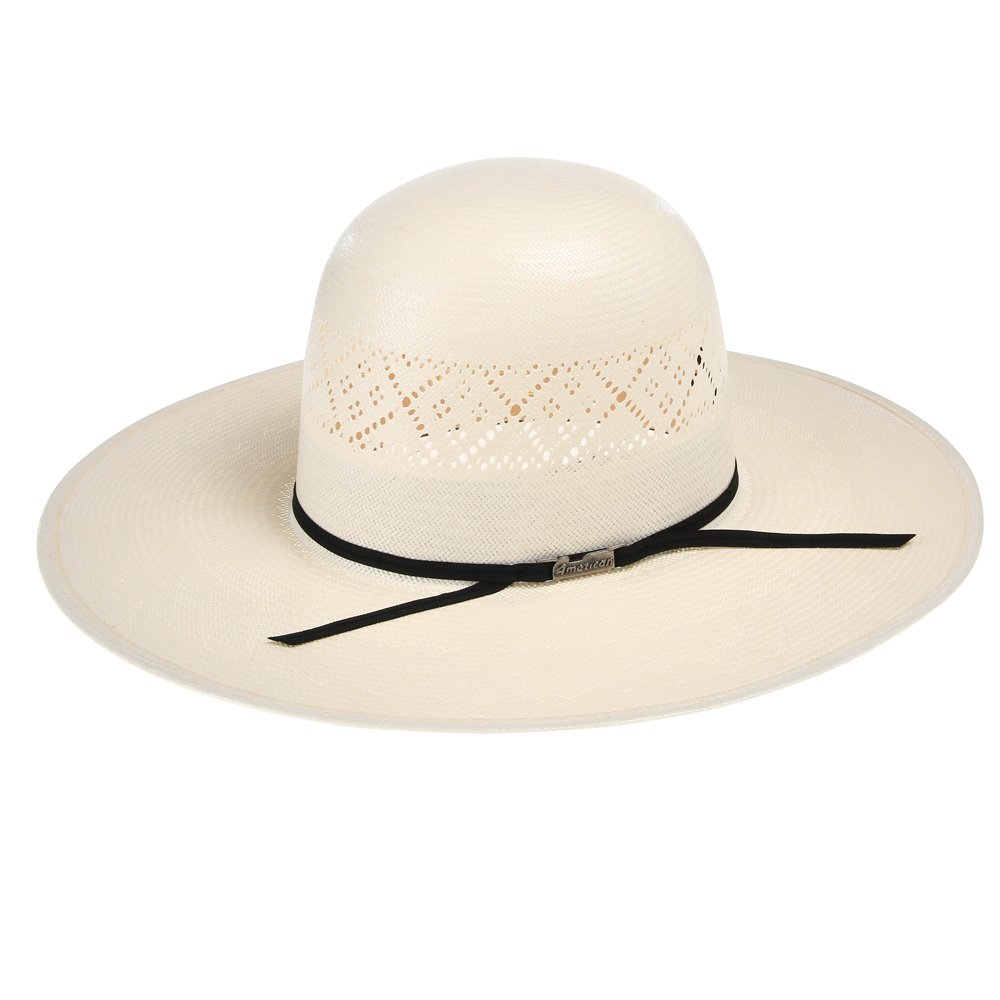 5e57cb9d8313f American Hat Company Mens Tuf Cooper by 20 Star Ivory Open Crown Solid  Weave 4 1 4 Brim Straw Cowboy Hat at Amazon Men s Clothing store