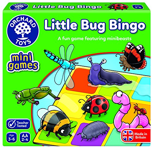 Orchard Toys Little Bug Bingo Mini/Travel Game, Multi, One Size (French Bingo Game)
